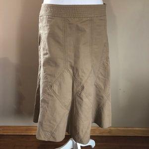 DKNY | Light Kaki Longer Skirt  8